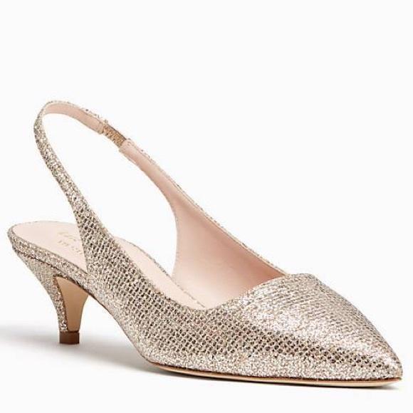 487d1a6fbab Kate Spade Gold Ocean Heels